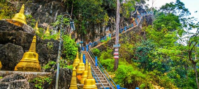 Templo del Tigre, Piscina Esmeralda y fuentes termales