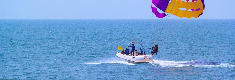 Aventura acuática en la bahía de Pattaya