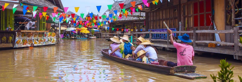 Entrada al mercado flotante de Pattaya