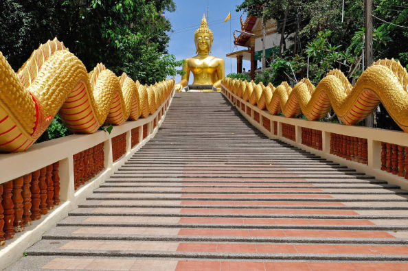 The steps of the Big Buddha hill