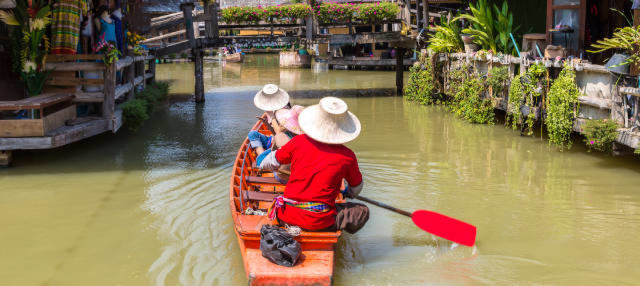 Tour pelo mercado flutuante de Pattaya + Passeio de barco
