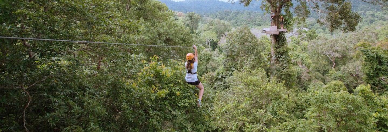 Tour de aventura no Flight of the Gibbon