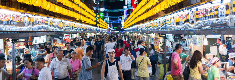 Tour gastronômico privado pelo mercado noturno Miaokou