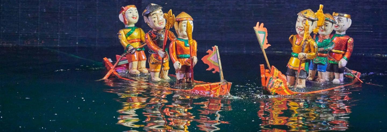 Passeio de cyclo + Espetáculo aquático noturno de marionetes