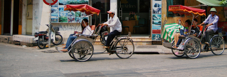 Tour en rickshaw por el casco antiguo de Hanói