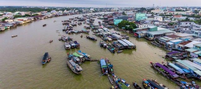 Mercado flotante + Isla Tan Phong
